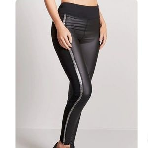 Brand New Active Metallic Stripe Leggings